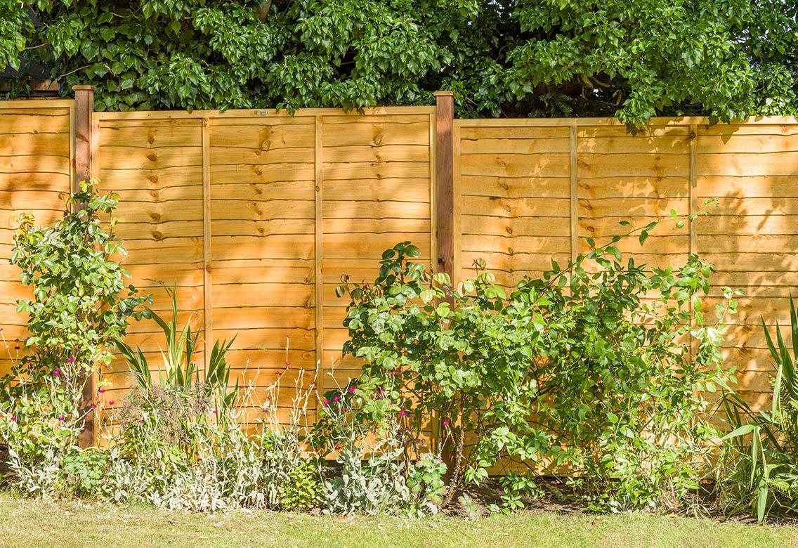 Superior Golden Brown Lap Wood Fence Panel #3