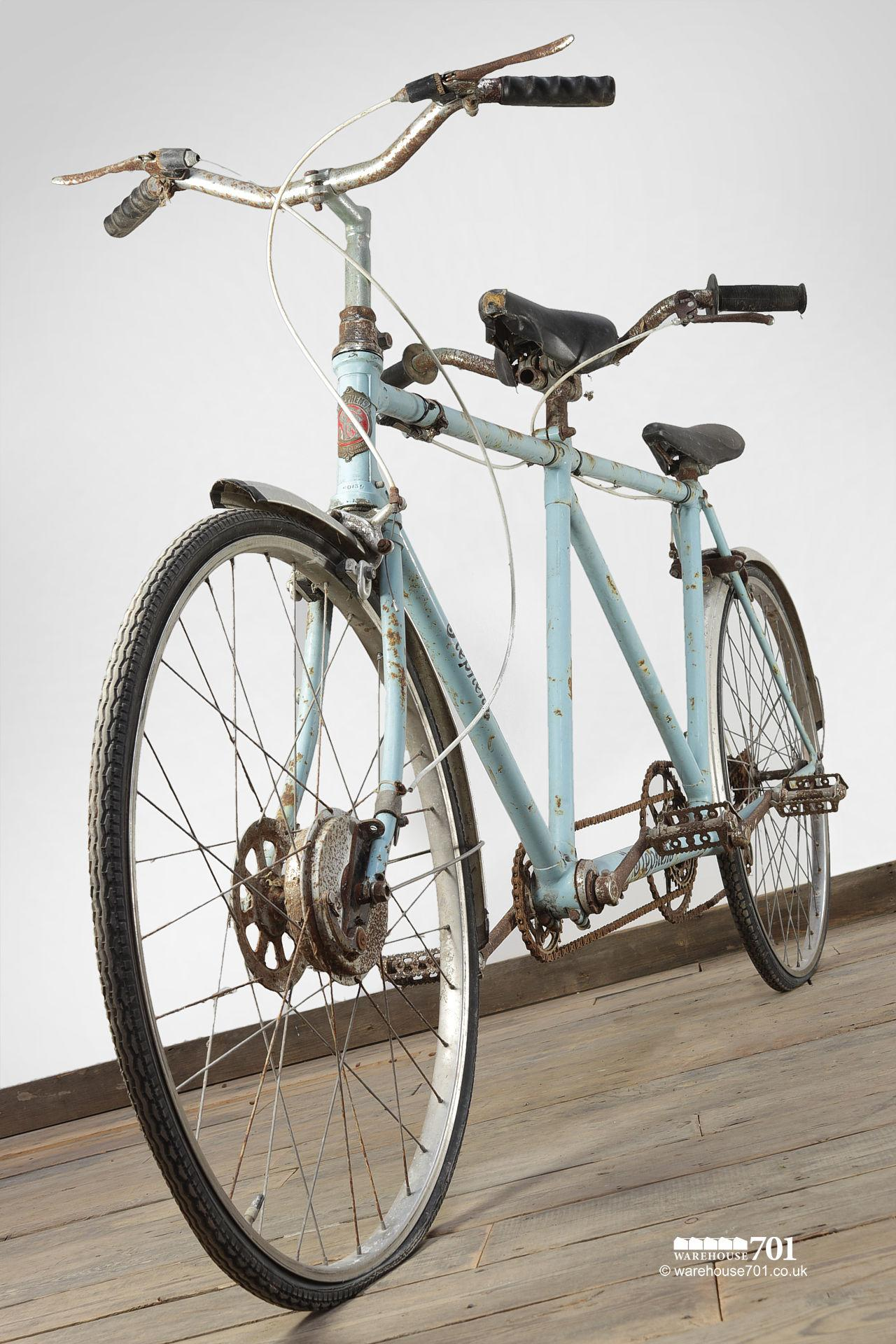 Authentic E Stephens 1940s British Hand Built Tandem Bicycle #2