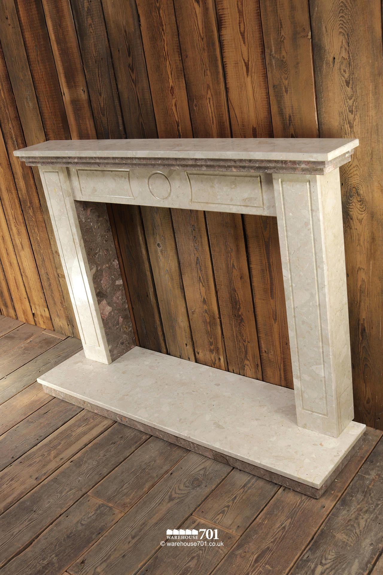 Reclaimed Marble Fire Surround, Mantle, Hearth and Inset #5