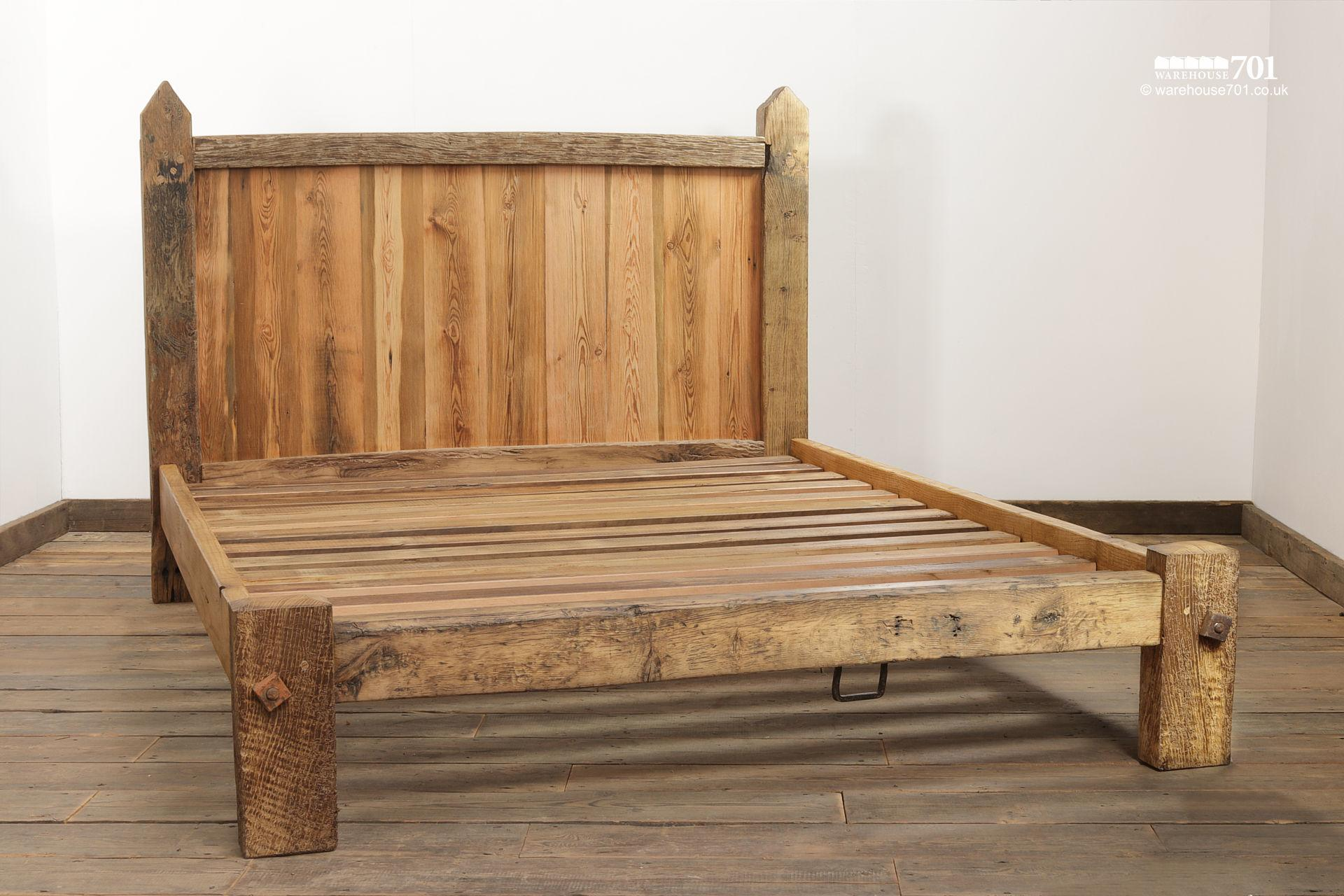 Impressive Hand Built Bed Made From Old Oak Gates #3
