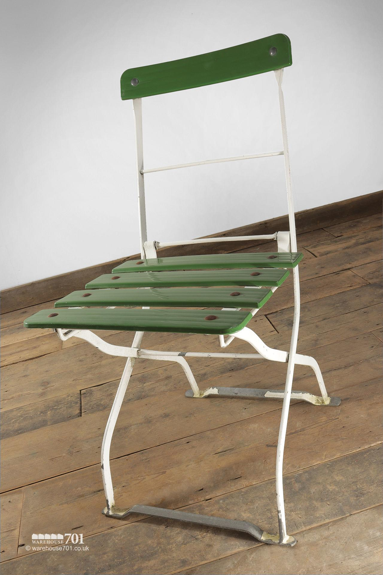 Reclaimed Green and White Garden or Cafe Table and Chairs #6