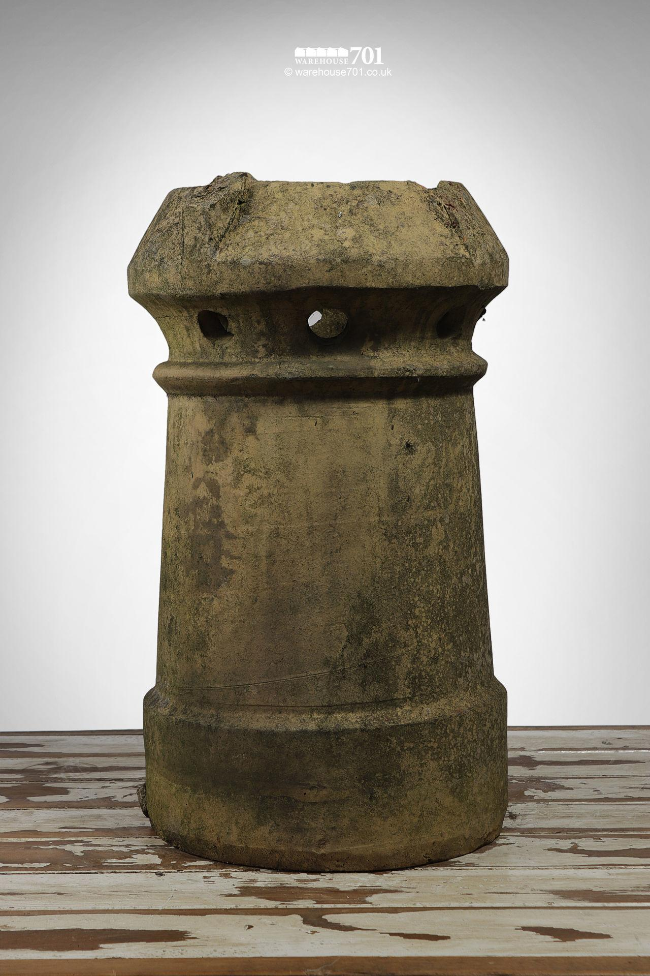 Old Buff Colour Perforated Cannon Chimney Pot