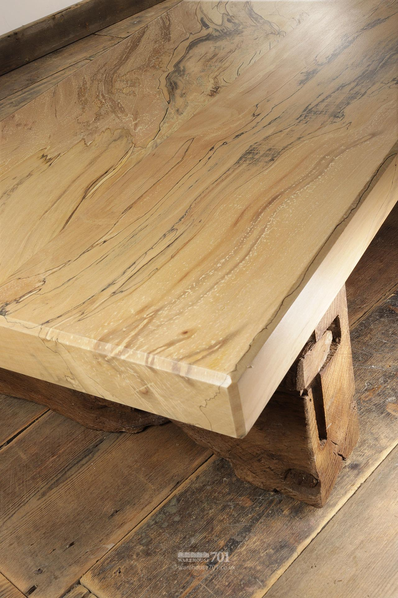 Hand-Made Spalted Beech Coffee Table #5