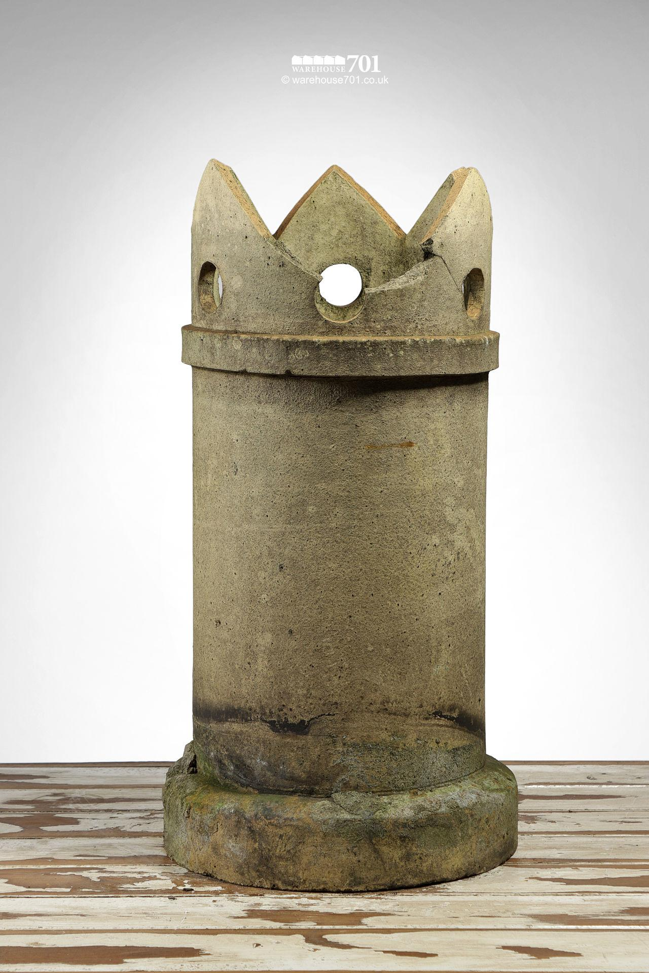 Reclaimed Buff Straight Crown Chimney Pot #2