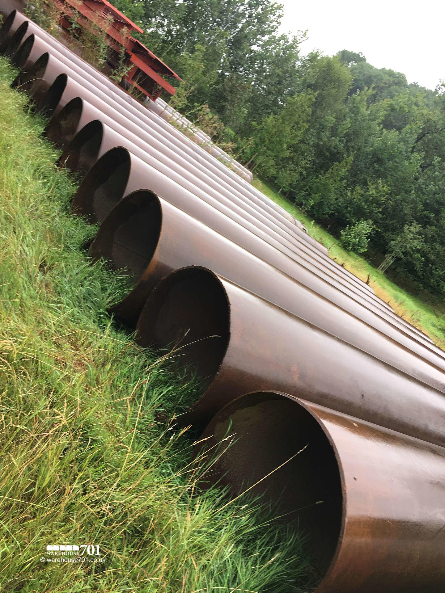 91.4cm (3ft) Diameter Steel Pipe in 8m to 9m lengths