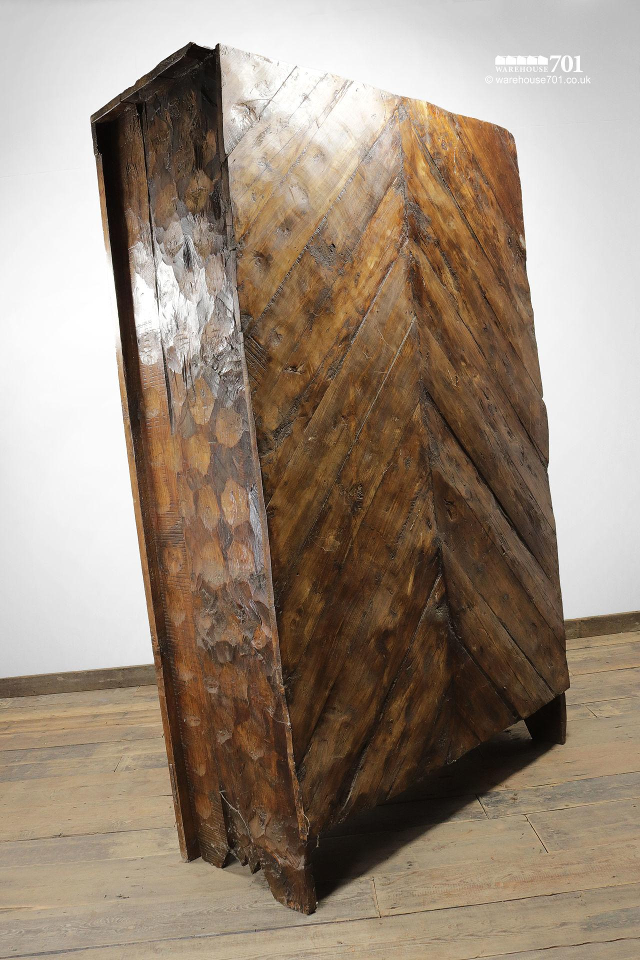 Grand Hand-Carved Wood Armoire or Cupboard #6