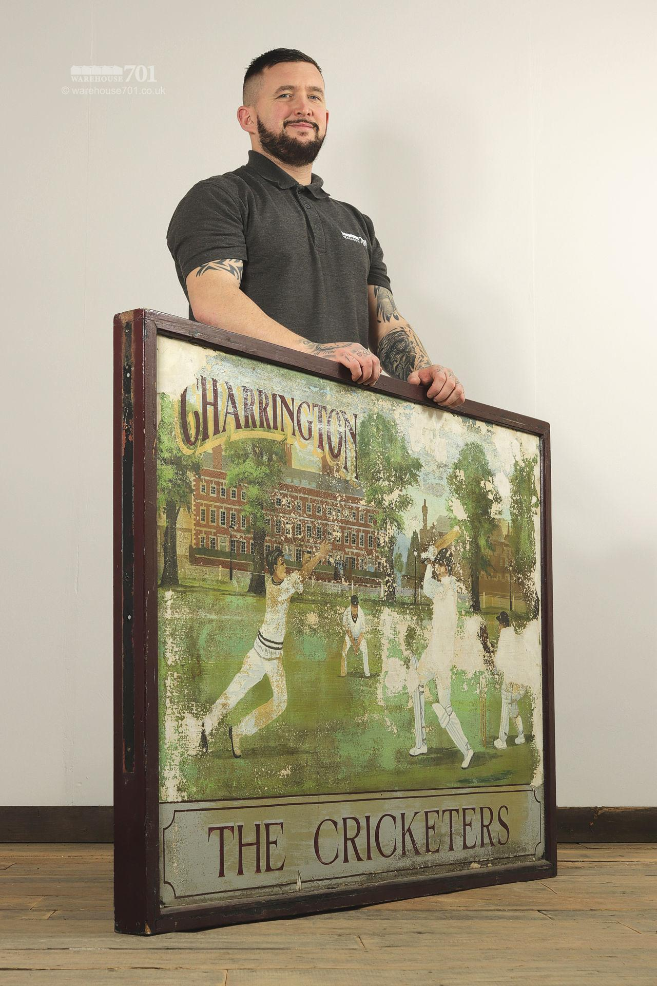 Salvaged Cricketers Double Sided Pub Sign #3