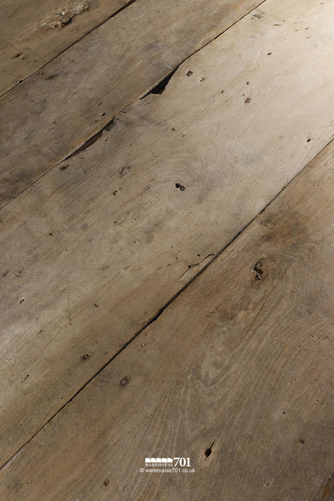 "10m² Stunning All Original Salvaged 18th Century 15"" Wide Board Elm Floor"