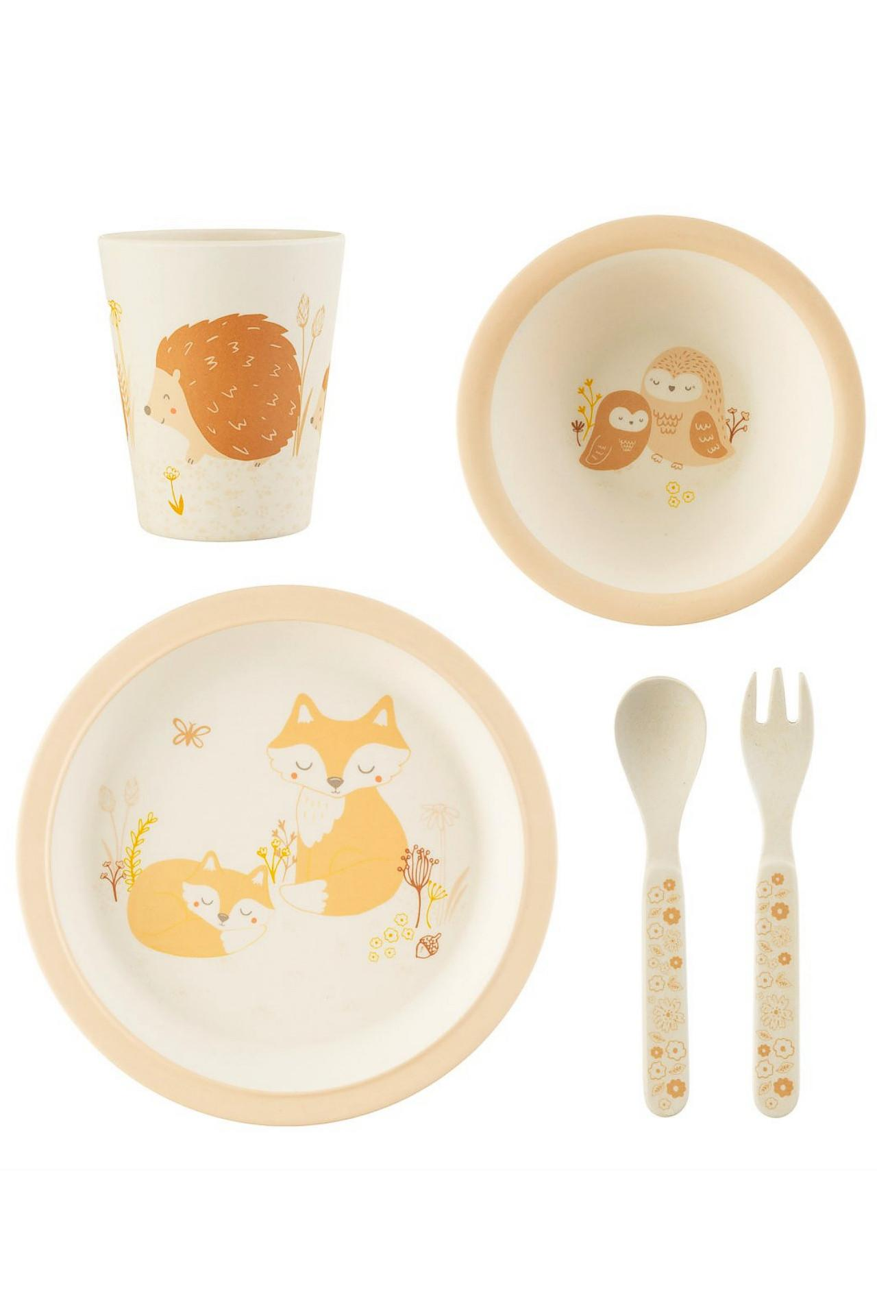 New Woodland Baby Bamboo Tableware Set for Teatime Fun #2