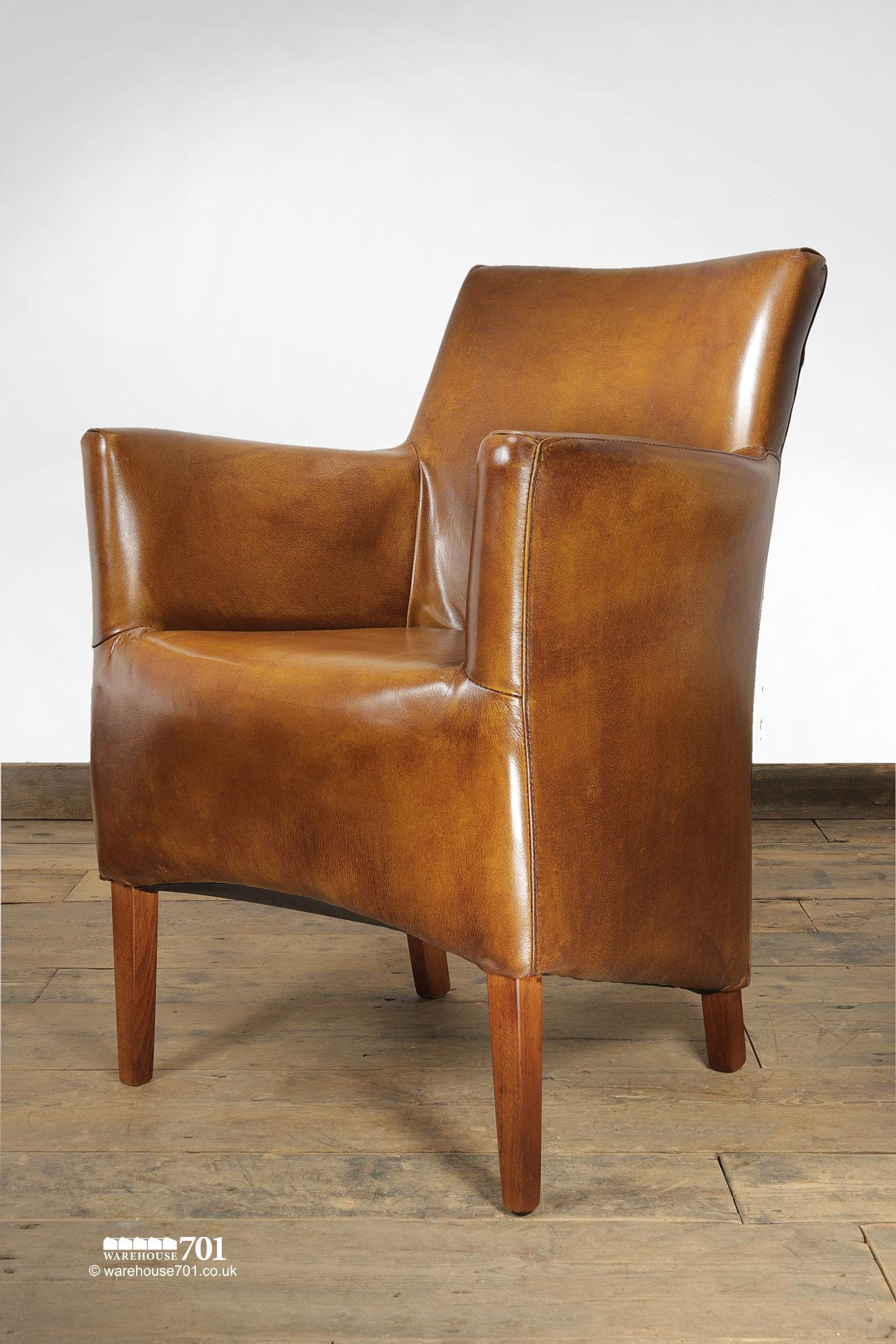 NEW Stylish and Sumptuous Compact Stitched Leather Armchair #3