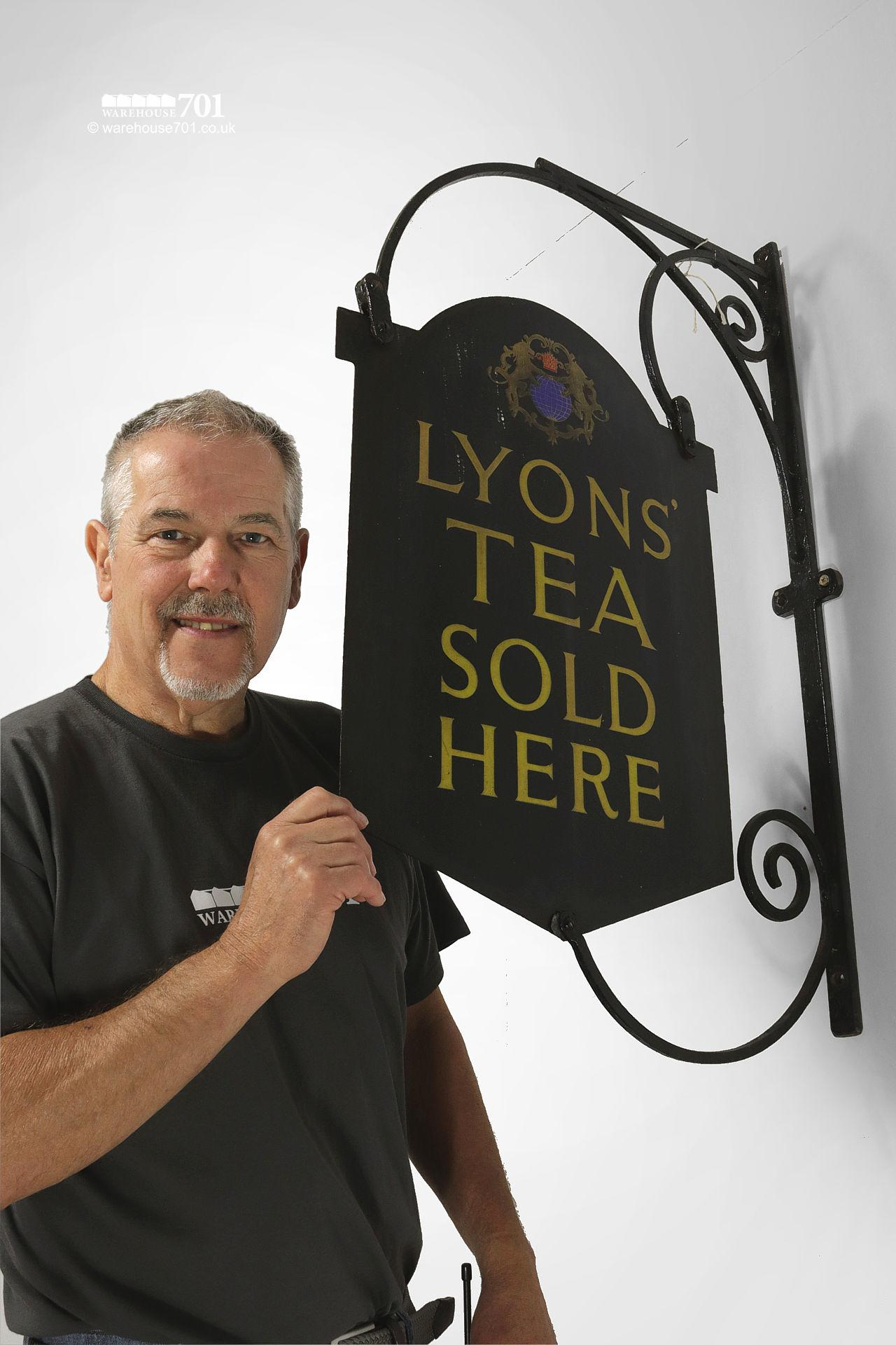 Authentic Double-Sided Lyons' Tea Projecting Hanging Wall Sign #3