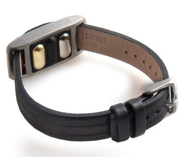 BrodTeNS black leather buckle