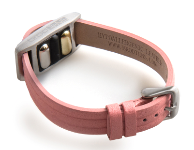BrodTeNS pink leather buckle