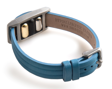 BrodTeNS blue leather buckle