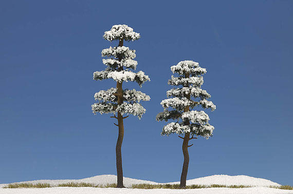 Busch 6155 2 Snow Covered Trees