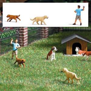 Busch 8858 Retriever game with dogs