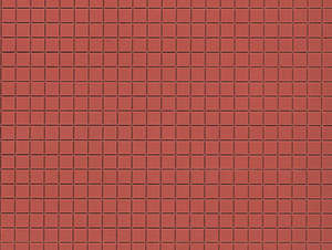 Auhagen 52222 2 Red Square Paving Decorative Plastic Sheets