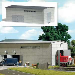Busch 8763 Prefabricated concrete hall with siding