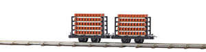 Busch 12203 2 Brick transport wagons