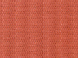 Auhagen 52216 2 Red Roof Tiles Decorative Plastic Sheets
