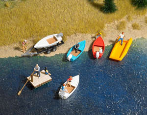 Busch 1157 6 Small boat set