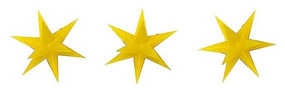 Busch 5415 3 Gold illuminated Christmas Star Decorations