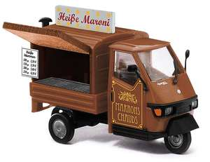 Busch 48495 Piaggio Ape 50 Hot Chestnut Cart