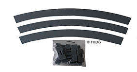 Tillig 87867 Curved Tarmac / Concrete Ground Area With Brackets