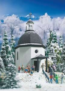 Vollmer 42412 Silent Night Memorial Chapel with lighting and artificial snow