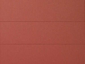 Auhagen 52230 2 Red Corrugated Iron Decorative Plastic Sheets