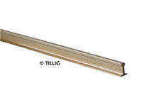 Tillig 82500 Shiny nickel silver rail 25mm (Code 100) length 1000 mm