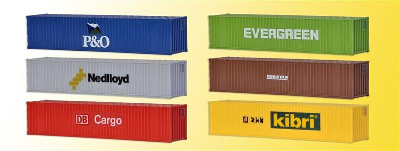 10922 KIBRI H0 40 ft containers