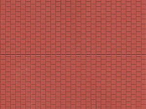 Auhagen 52224 2 Red pavement Decorative Plastic Sheets