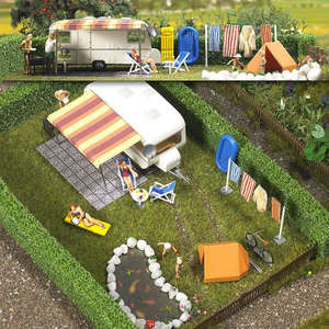 Busch 6023 Caravan With Accessories