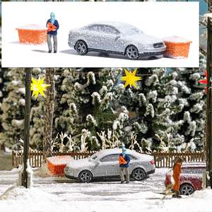 Busch 7858 Action Set: Accident with snowy car