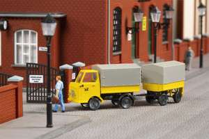 Auhagen 43662 Postal Multicar M22 With Trailer