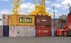10924 KIBRI H0 eight 20 ft container