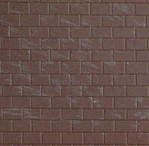 Kibri 34145 Brick wall plastic sheet