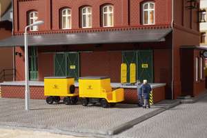 Auhagen 43663 Electric postal trolley with trailer