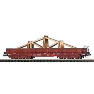 Busch 31175 Flat wagon with roof truss load