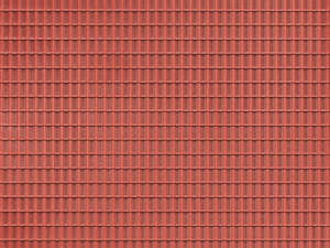 Auhagen 52225 2 Red Roof Tile Decorative Plastic Sheets