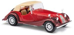 Busch 47115 1968 Metallic red Morgan Plus 8 with closed roof