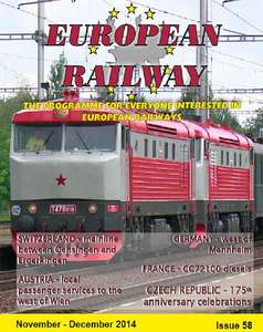 European Railway Issue 58  November - December 2014 Blu-ray
