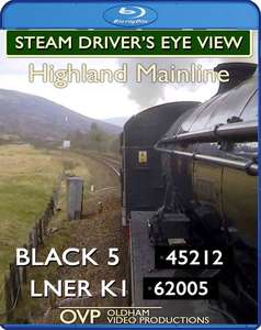 Steam Driver's Eye View - Highland Mainline. Blu-ray