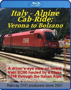 Italy - Alpine Cab-ride: Verona to Bolzano. Blu-ray
