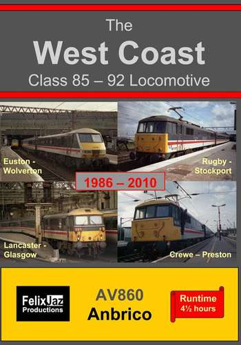 The West Coast Class 85 - 92 Locomotive 1986-2010 - 4 Disc Set