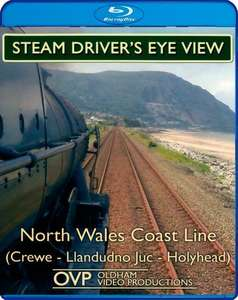 Steam Drivers Eye View - North Wales Coast Line - Crewe - Llandudno Jct - Holyhead - Blu-ray