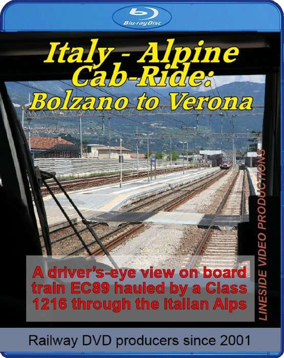 Italy - Alpine Cab-Ride: Bolzano to Verona. Blu-ray