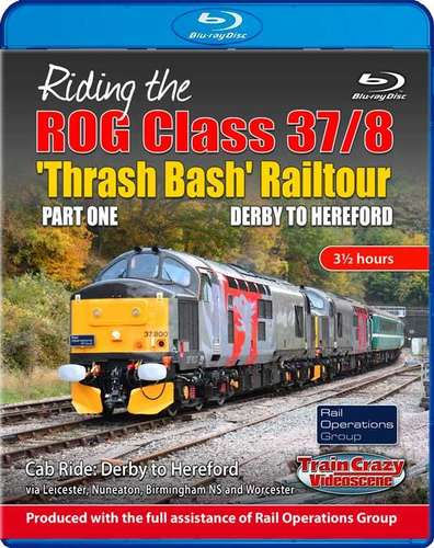 Riding the ROG Class 37-8 Thrash Bash Railtour - Part One - Derby to Hereford - Blu-ray