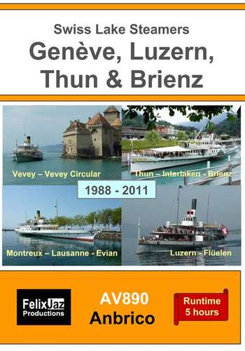 Swiss Lake Steamers - Geneve -Luzern - Thun - Brienz 1988-2011 - This is York (Parts 1 - 4: 1984 - 2004) - 4 Disc Set